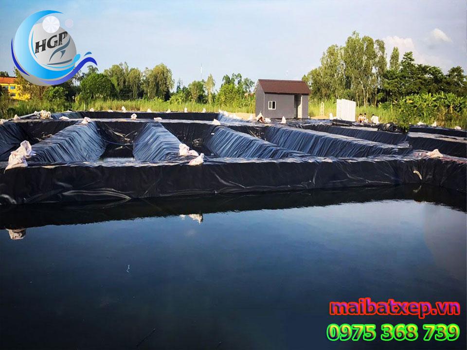 Bạt Nhựa HDPE Lót Ao Hồ Chứa Nước Nuôi Cá Tôm