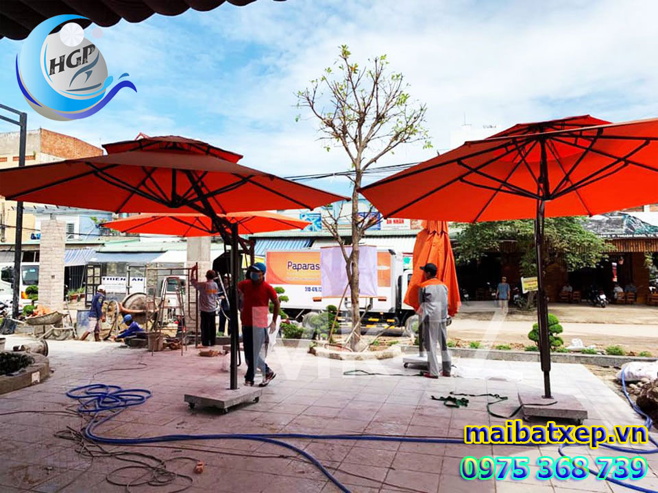 Địa Chỉ Bán Dù Che Nắng Mưa Quán Cafe Ngoài Trời Tại TPHCM