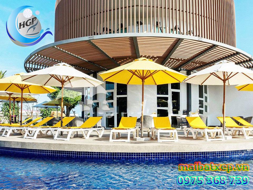 Dù Che Nắng Cafe   Giá Dù Ngoài Trời   Dù Resort Hồ Bơi Giá Rẻ
